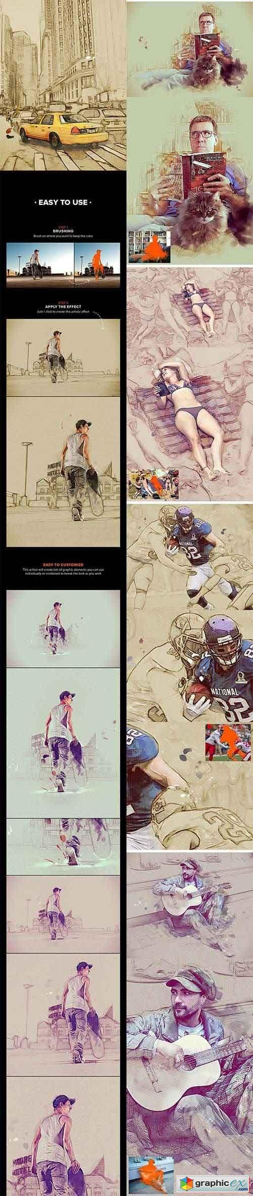 MixArt - Sketch Painting Photoshop Action
