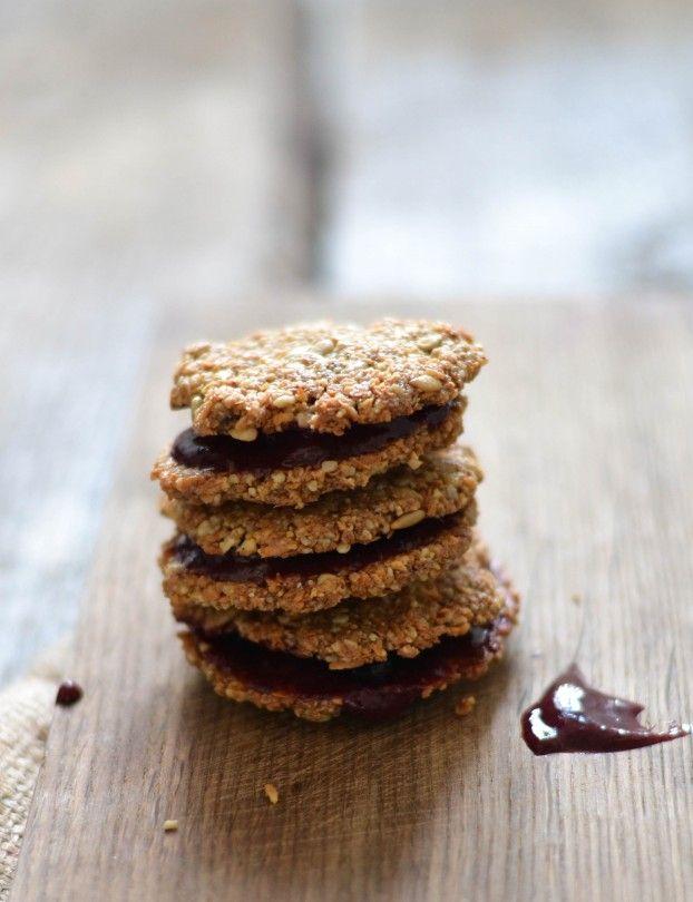 Valentine Jam & Coconut Sandwich Cookies