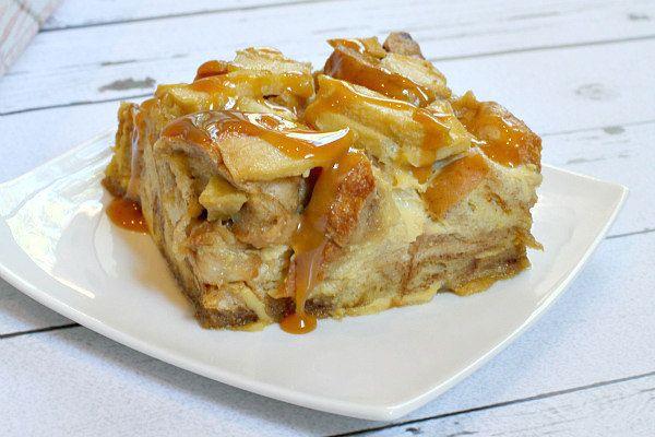 Caramel Apple Bagel Bread Pudding   RecipeGirl.com   Bloglovin