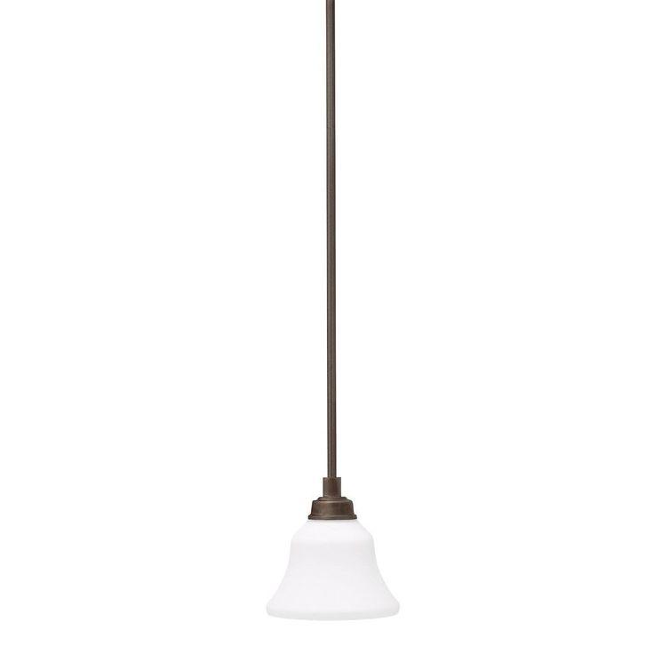 Kichler Lighting Langford Collection 1-light Olde Bronze LED Mini Pendant, Brown (Glass)