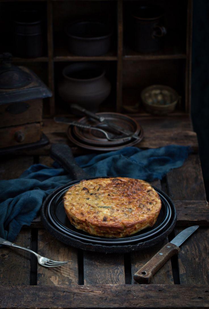 Закусочный пирог с пореем и сыром Фета