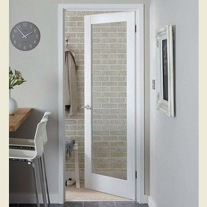 Solid One Panel Glazed Shaker Doors White Primed FROM ONLY £116.66! + VAT These Pattern 10 clear glazed doors are a range of contemporary doors manufactured in the minimalist Shaker design with clean crisp lines with out beading. This range of clear glazed solid core doors are supplied with a superior double coated white primed finish that looks so good you would think they are fully finished doors. Features clear toughened glass.