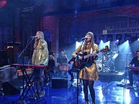 "▶ David Letterman - First Aid Kit: ""My Silver Lining"" - YouTube"