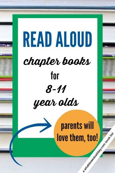 Great choices for chapter book read alouds that will appeal to ages 8 and up. 3rd, 4th and 5th graders.