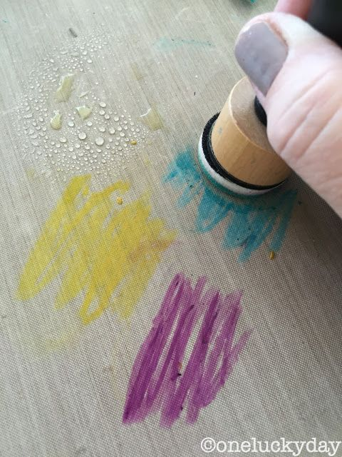 One Lucky Day: Distress Crayons: a subtle approach