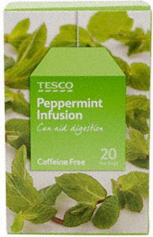 Tesco Peppermint Infusion Tea-Bags - a nice refreshing mint taste.