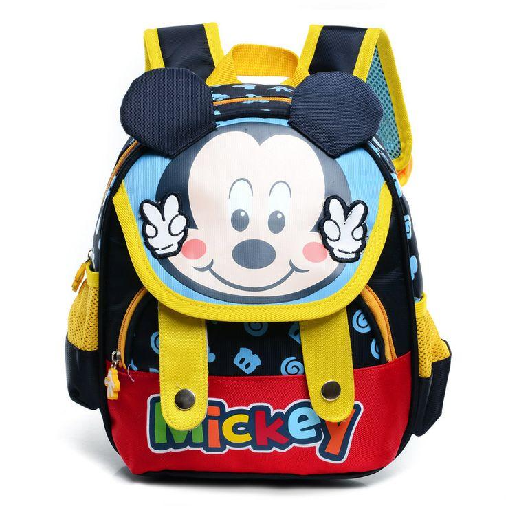 New Mickey children's school bags Cartoon shoulder bag Factory Direct children school bags $15.96