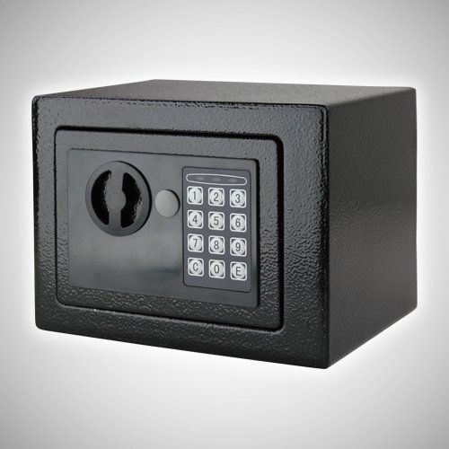 GotHobby Digital Electronic Safe Box Lock Home Office Hotel - Black Model:. Condition: Brand new. Opens with digital PIN or included override key. Time out period after 3 incorrect combination attempts. Body construction with 2mm thick solid steel. Heavy-duty 4mm thick solid steel front door.