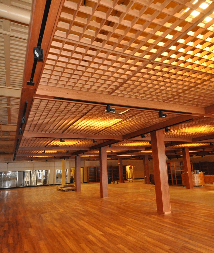 1000 ideas about ceiling grid on pinterest buy metal pvc panels and galvanized steel - Wood slat ceiling system ...