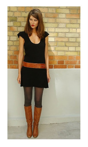 Wear brown boots with black dress