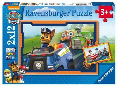 Puzzle Ravensburger 2x12 piezas de Paw Patrol La Patrulla Canina
