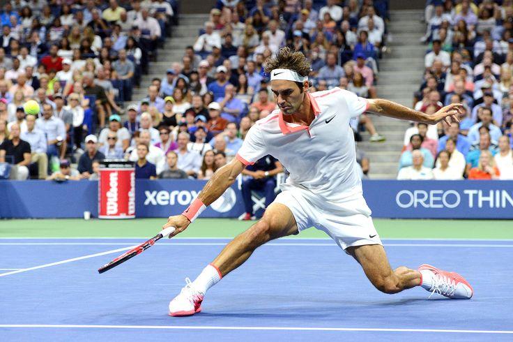 2015, US Open Semifinal: Federer vs. Wawrinka. Five time champion Roger Federer advanced to US Open Final.