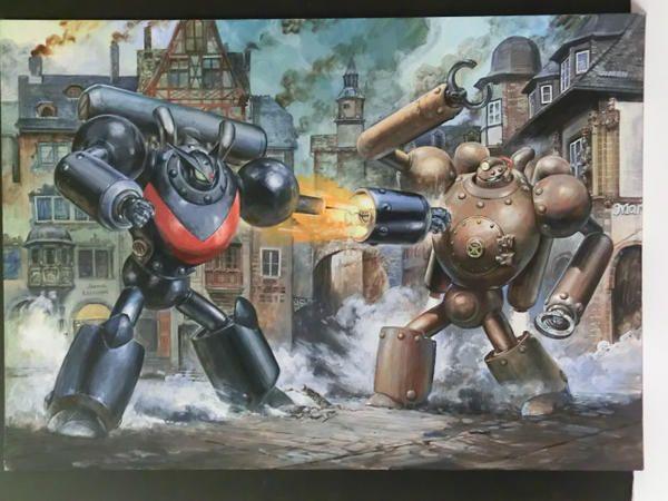 高荷義之氏の怪傑蒸気探偵団イラスト原画を発掘。やっぱり麻宮先生に保管してもらおうと思う。それにしてもこの画力は凄い。本当に凄い。