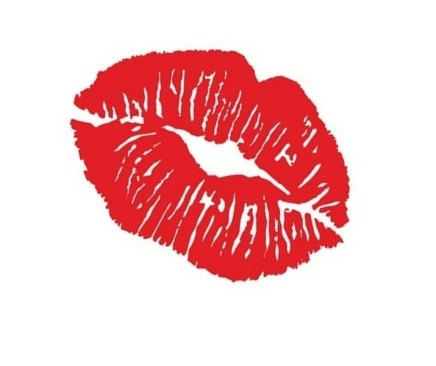 Vinyl Wall Decal - Kissy Lips.