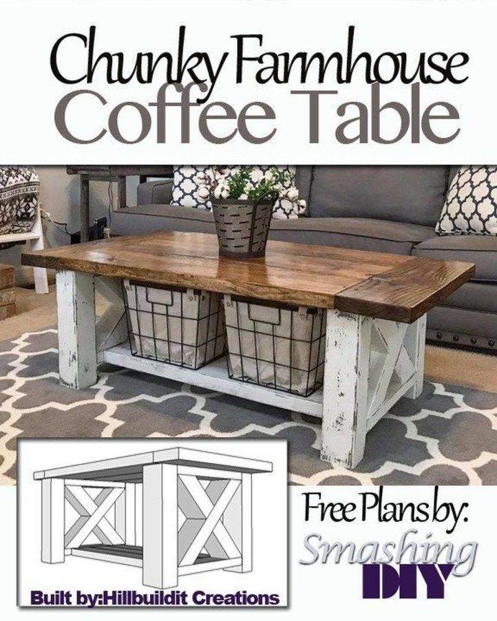Creative Farmhouse Coffee Table Decor Ideas36 Coffee Table