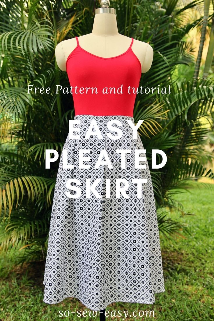 Easy pleated skirt pattern, FREE sew-along: Part 1 http://so-sew-easy.com/easy-pleated-skirt-pattern-part-1/?utm_campaign=coschedule&utm_source=pinterest&utm_medium=So%20Sew%20Easy&utm_content=Easy%20pleated%20skirt%20pattern%2C%20FREE%20sew-along%3A%20Part%201 #soseweasy #atsoseweasy #sewing #sewingtips #sewingtutorials