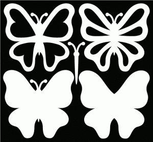 Patrón mariposas.