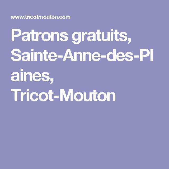 Patrons gratuits, Sainte-Anne-des-Plaines, Tricot-Mouton