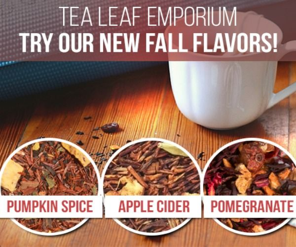 In advance of their online store's launch, Tea Leaf Emporium is giving out a free sample of their loose leaf tea. You will receive a random sample of one of their three fall samples--Pumpkin Spice, Apple Cider or Pomegranate. #pumpkinspicelatte