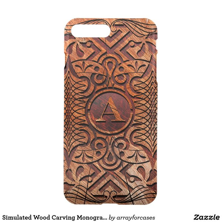 Simulated Wood Carving Monogram A-Z iPhone/iPad/iPod cases. A beautiful, abstract geometric pattern that features your monogram in a circular frame all with the appearance of a wooden carving. Due to the nature of this design, you will need to use the 'Customize' button to select your initial from the alphabetical list of layers that appears on the right. Search ID446 to see other case sizes.