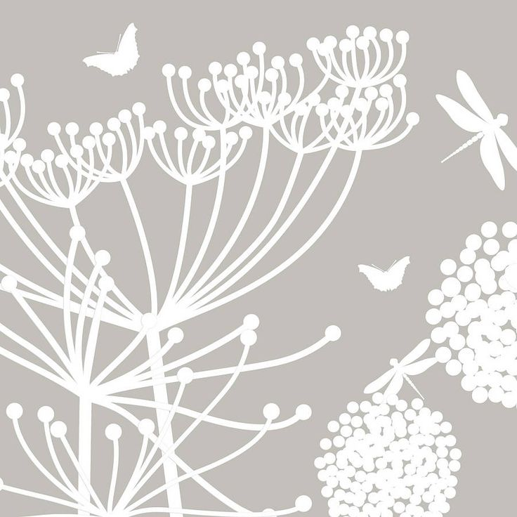 White Dandelions And Cowparsley Wall Stickers In 2019