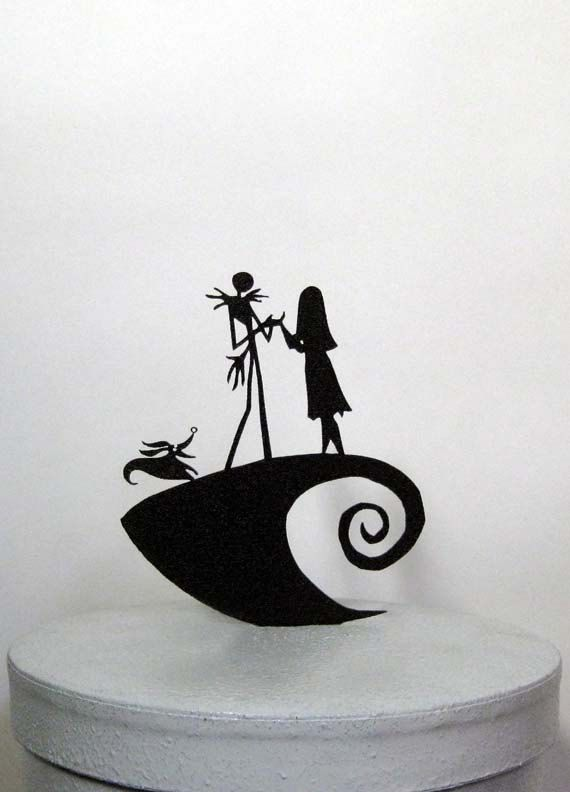 Hey, I found this really awesome Etsy listing at https://www.etsy.com/listing/211919071/wedding-cake-topper-the-nightmare-before
