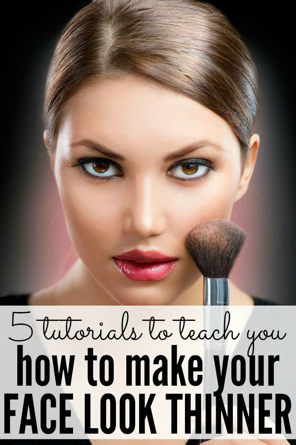 Whether you were born with a round, full face, or simply cannot lay off the donuts and wine (like me!), these tutorials will teach you how to make your face look thinner with 2 basic makeup techniques so you don't have to diet or break a sweat at the gym. You're welcome!