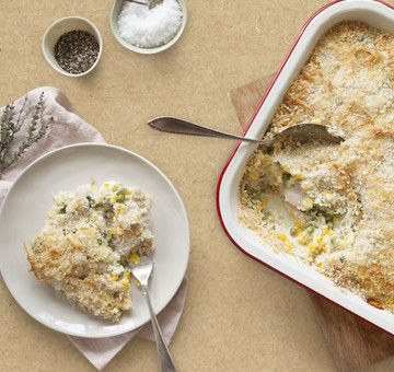 Whipping up homemade cheese sauce has never been easier – this yummy version of the classic chicken pie is chocka with de-luscious sour cream, parmesan and nutty egmont cheese. Lovingly created by Annabel Langbein.