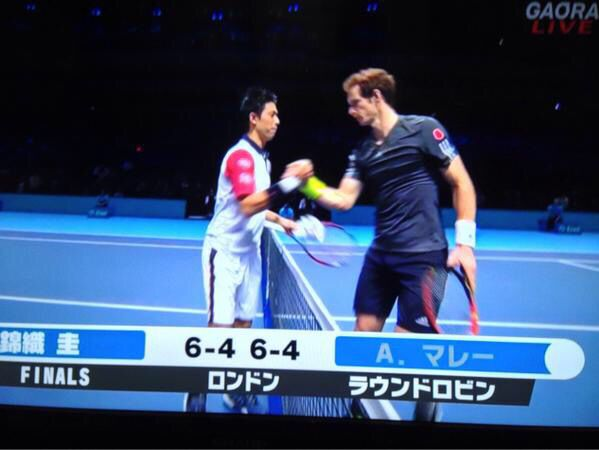 Kei NISHIKORI  defeats Andy MURRAY 6-4 6-4 #ATP Finals round robin 1st match 錦織圭がアンディ マレーに初勝利!撃破!すげ〜!