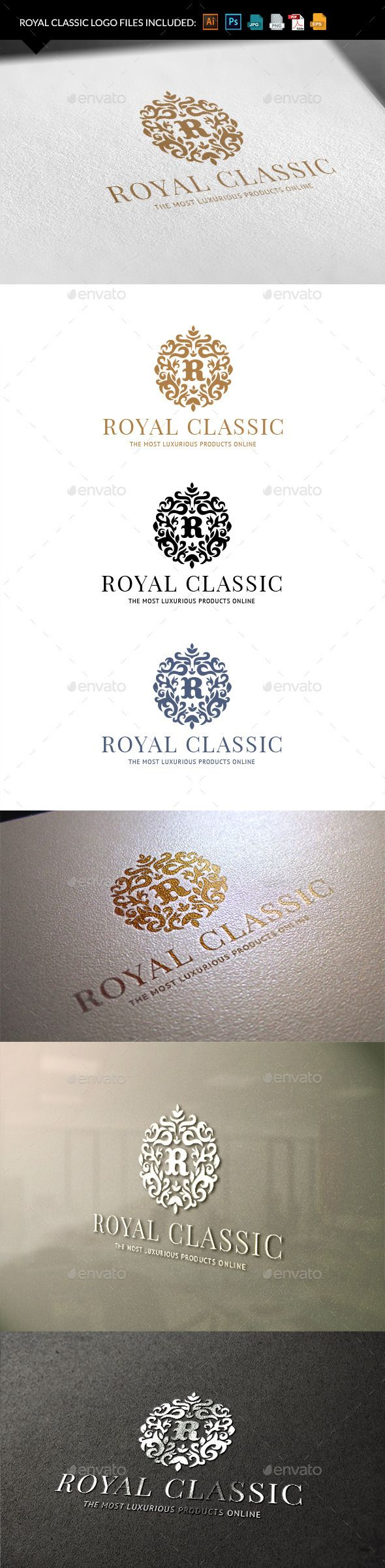 Royal Classic Logo Template #design #logodesign Download: http://graphicriver.net/item/royal-classic/9940997?ref=ksioks