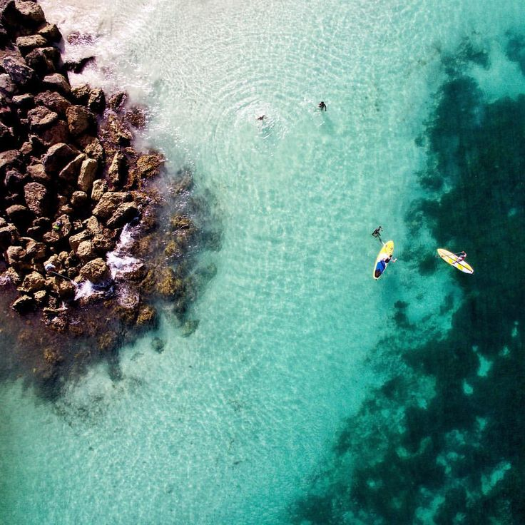 """105 Likes, 11 Comments - Saj D (@sajdaerial) on Instagram: """"Morning paddles. Love the colour of the water around south Cott . . . . . #cottesloe #standuppaddle…"""""""
