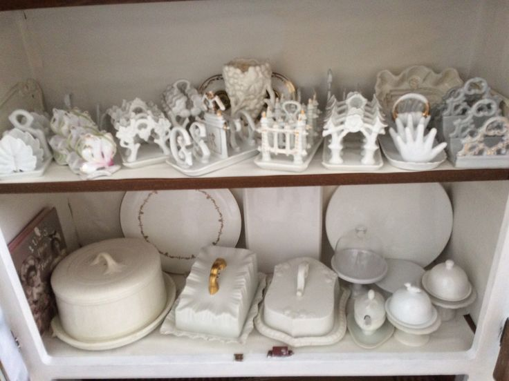 Victorian ceramic toast racks and cheese  dishes etc
