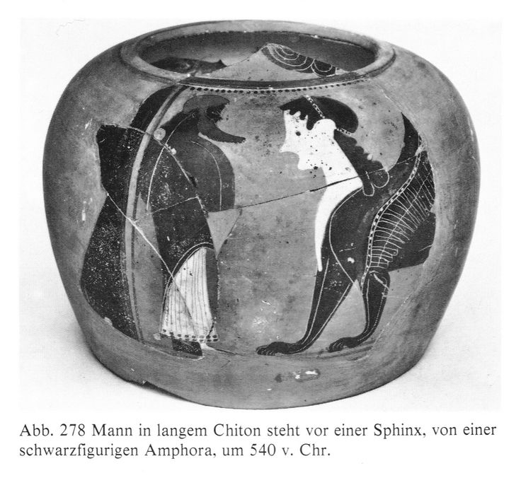 Oedipus solving the riddle of the Theban Sphinx Oidipus