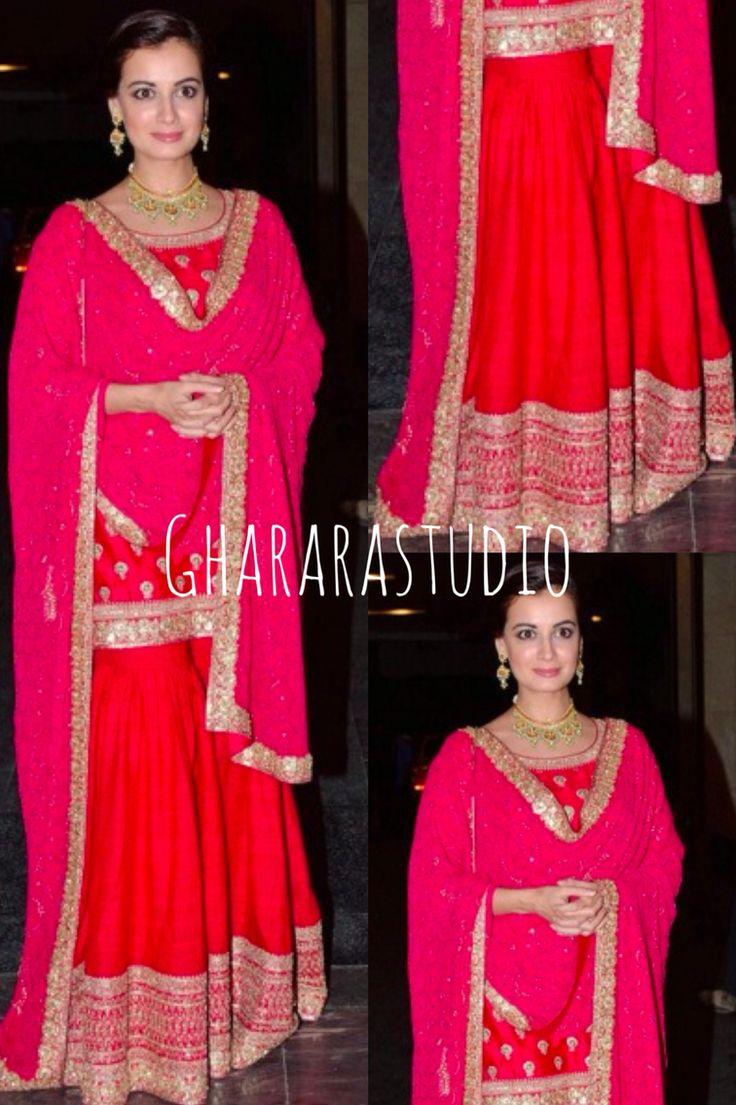 Spotted Diya Mirza in this gorgeous Red & Pink Gharara by Sabyasachi. Mail, message or whatsapp to order a Gharara.   #gharara #ghararastudio #diyamirza #sabyasachi #ghararagirl #ghararalove #red&pink #orderonline #ghararastudiobyshazia #fashion #fashionable #fashiongram #fashionista #fashionblogger #fashionblog #instafashion #fashionstyle #bridal #bridalgharara #wedding #weddingdress #celebrity #celebritystyle #celebritystylist #celebrityfashion