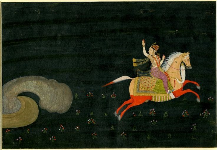 A girl luring quicksilver from a mine by her beauty. India, Mughal dynasty, mid-18th century (British Museum)