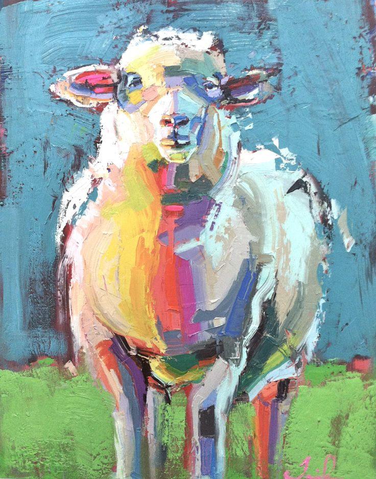 "Holy sheep! I love these colors so much!  ""Curtis the Sheep"" by Teil Duncan"