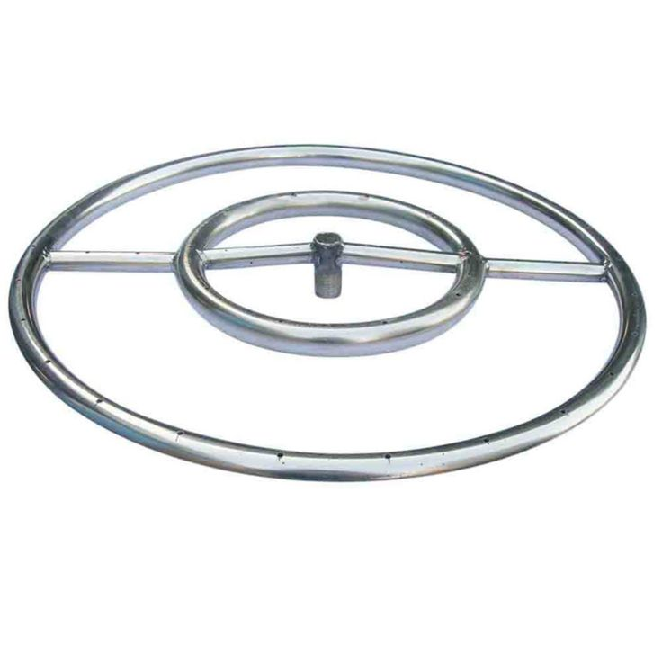 Tretco 18 in. Stainless Steel Fire Pit Ring - OBRSS-18R