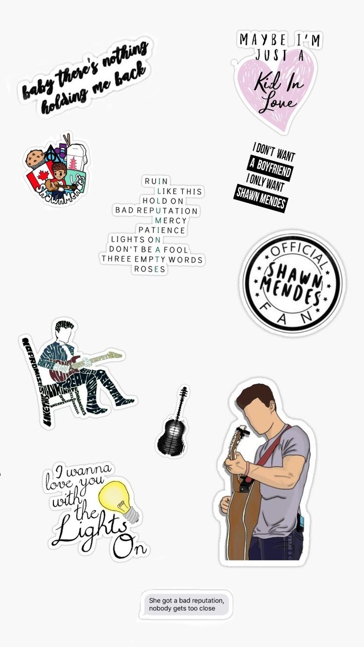 Shawn Mendes Stickers Wallpaper