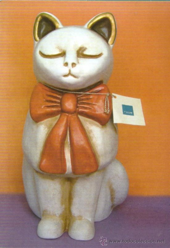 THUN Pottery Cat Figure