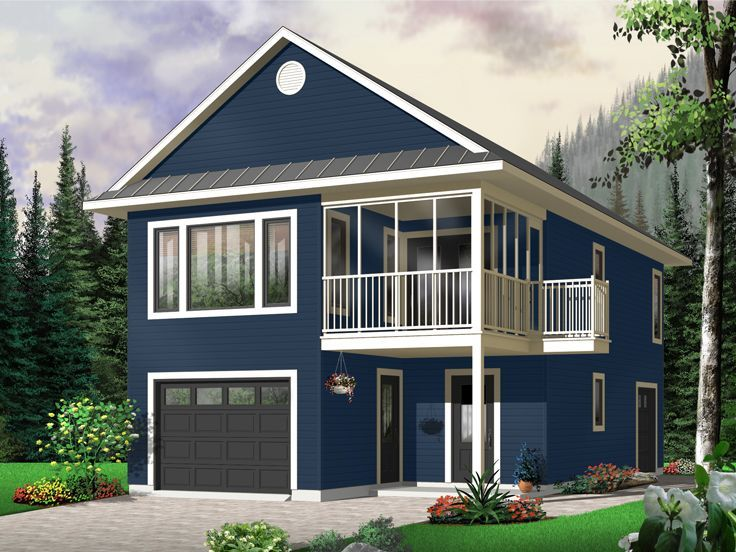 027G-0003: Carriage House Plan with Tandem Garage  ~ Great pin! For Oahu architectural design visit http://ownerbuiltdesign.com