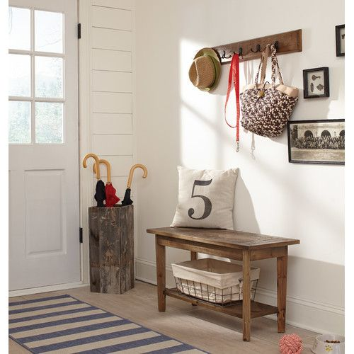 Found it at Wayfair - Wall Mounted Coat Rack with Bench