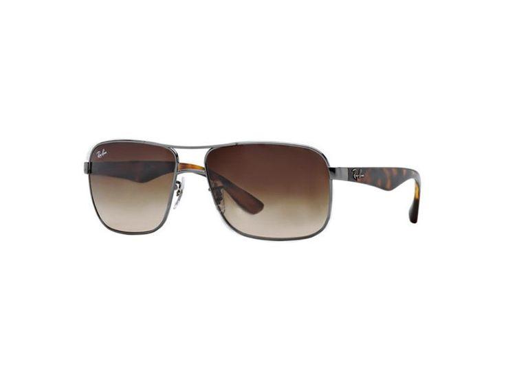Ray-Ban for man (Highstreet) - (GUNMETAL\\/brown gradient), Designer Sunglasses Caliber 59