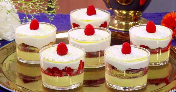 Klassisk prinsesstårta som serveras i ny tappning - som portionsdessert i glas.