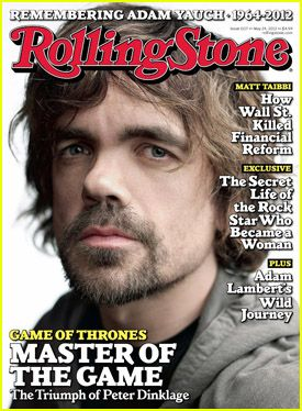 Peter Dinklage  on the cover.... he is the best thing about Game of Thrones.