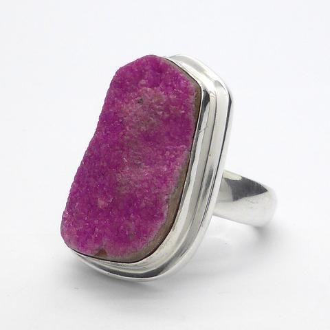 Cobaltoan Calcite cobaltocalcite Crystl raw ring silver