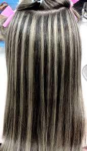 Resultado de imagen para cabello castaño con mechas beige