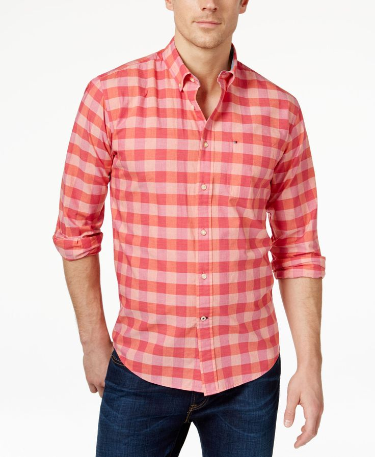 Tommy Hilfiger Men's Alonza Long-Sleeve Checked Shirt