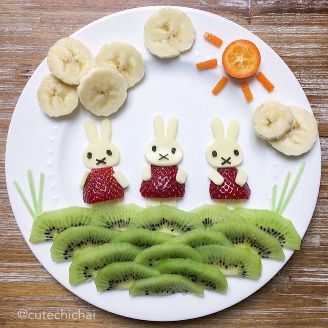 Comida en forma divertida para los pequeños de la casa 🏡