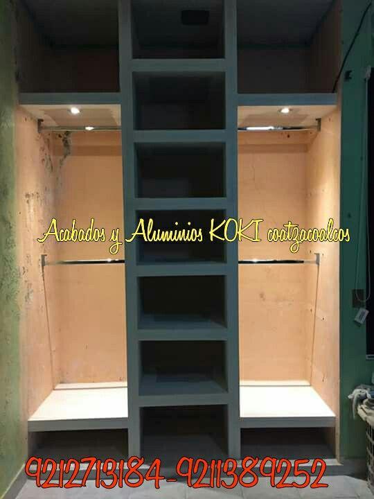 Closet tablaroca con iluminación