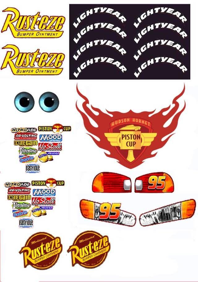 Lightning Mcqueen Rust Eze Logo : lightning, mcqueen, Racing, Lightning, Mcqueen, Cake,